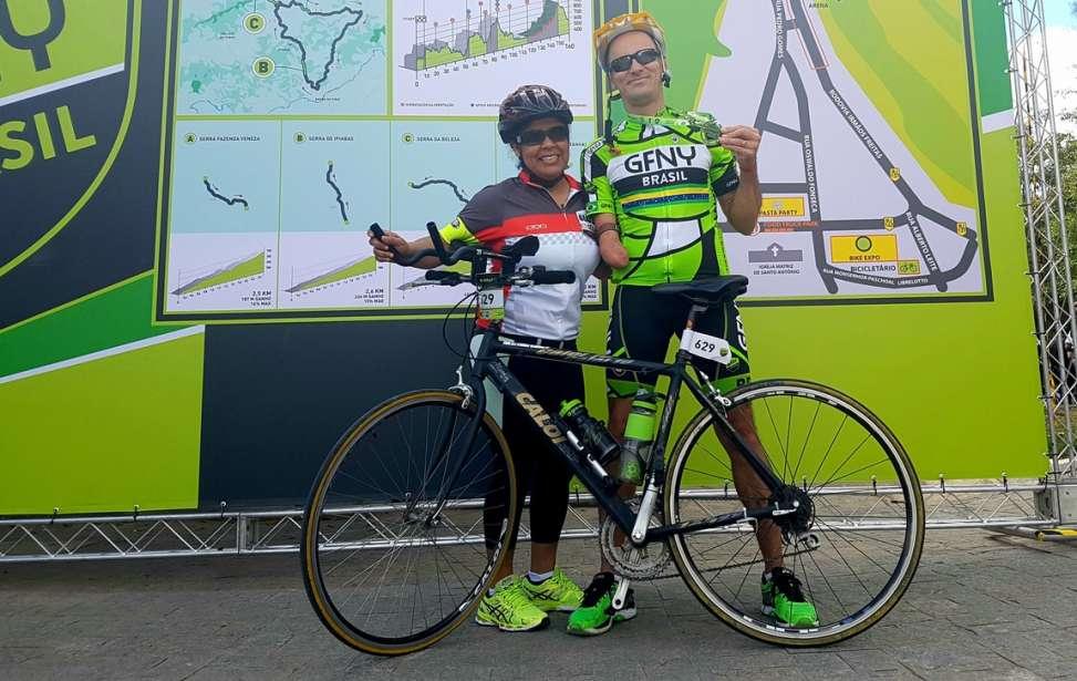 Bikers Rio Pardo | SUA HISTÓRIA | Atleta com braço amputado encara de bicicleta os 72km do GFNY Brasil