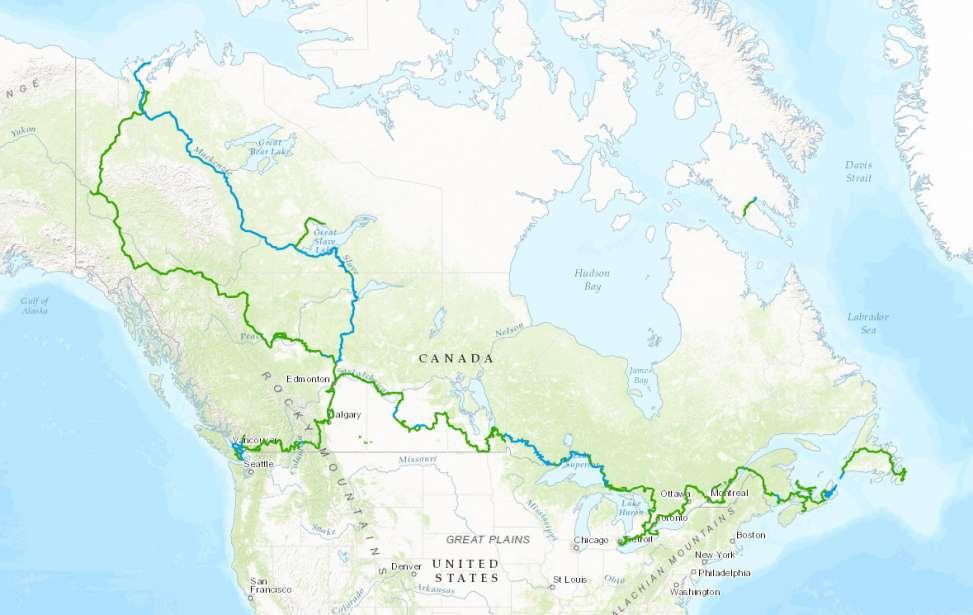 Bikers Rio Pardo   NOTÍCIAS   Canadá inaugura maior trilha do mundo com 24 mil km