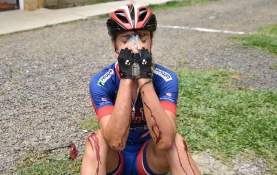 Bikers Rio pardo | Notícia | Atleta cai, pedala 15 km machucada e fica com a prata no ciclismo nos Jasc