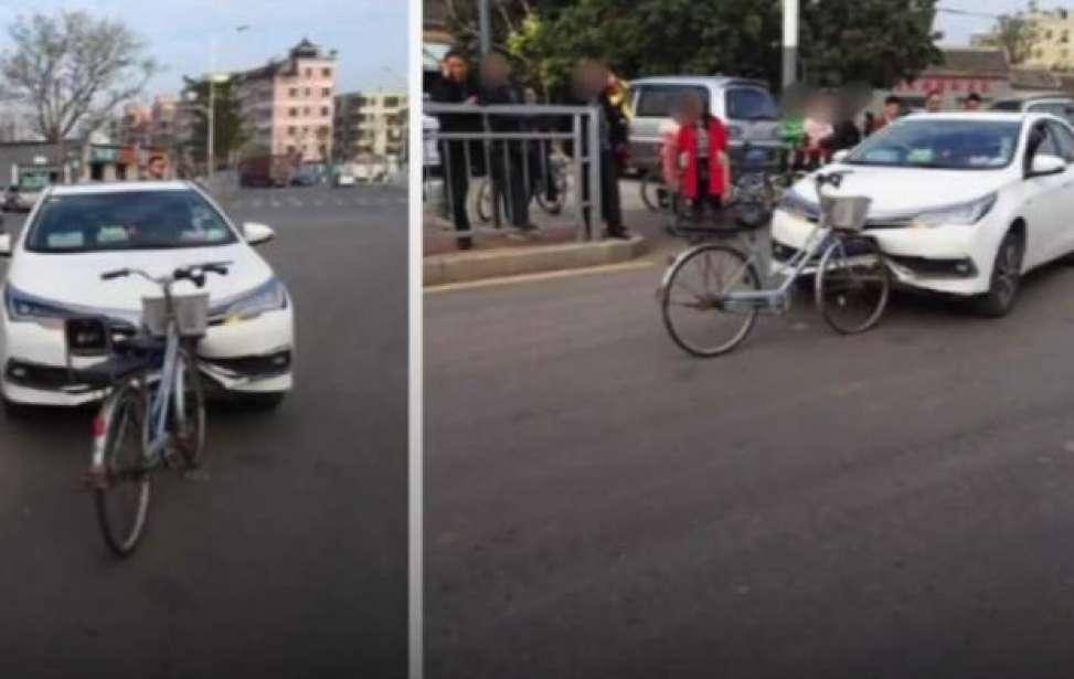 Bikers Rio Pardo | Notícia | Carro fica amassado e bicicleta sai intacta depois de colidirem de frente