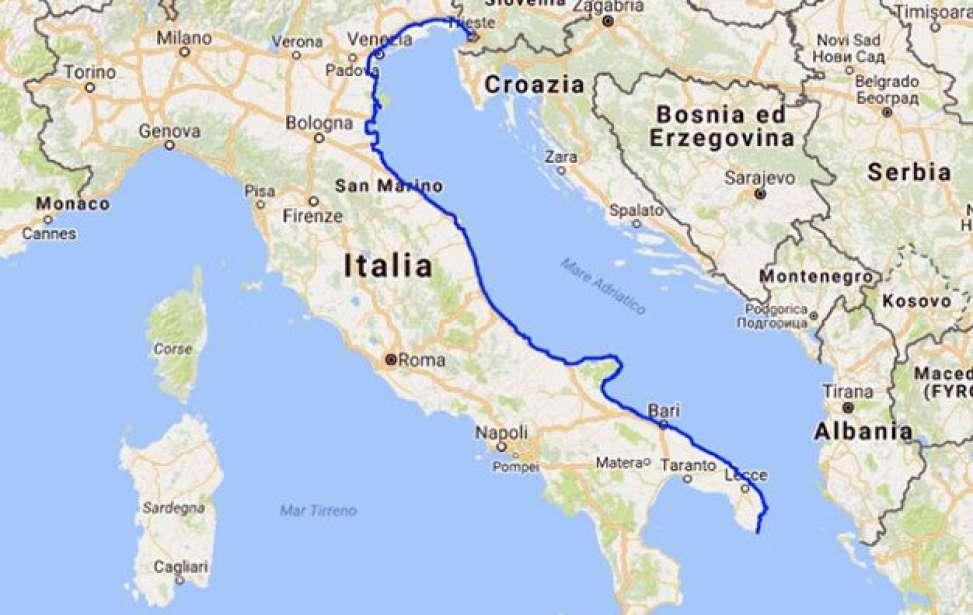 Bikers Rio Pardo | NOTÍCIAS | Itália anuncia ciclovia de 800 km entre o Vêneto e a Puglia