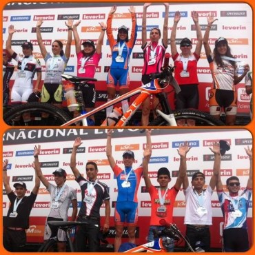 Bikers Rio Pardo | NOTÍCIAS | Com duas grandes vitórias, Isabella e Guilherme disparam na liderança da Copa Internacional de MTB