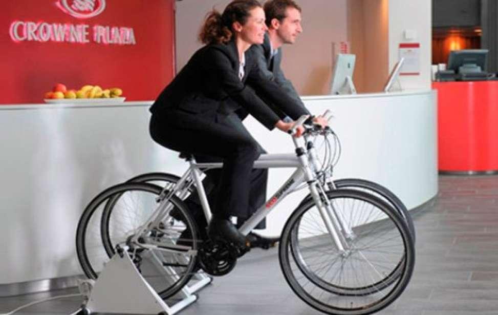 Bikers Rio pardo | Notícia | Hotel dá refeição grátis a hóspedes que gerarem energia pedalando