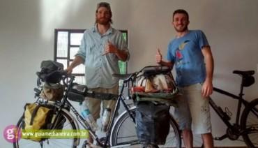 Bikers Riopardo | Morador de Serranópolis do Iguaçu recebe ciclista que atravessou continente para divulgar câncer raro