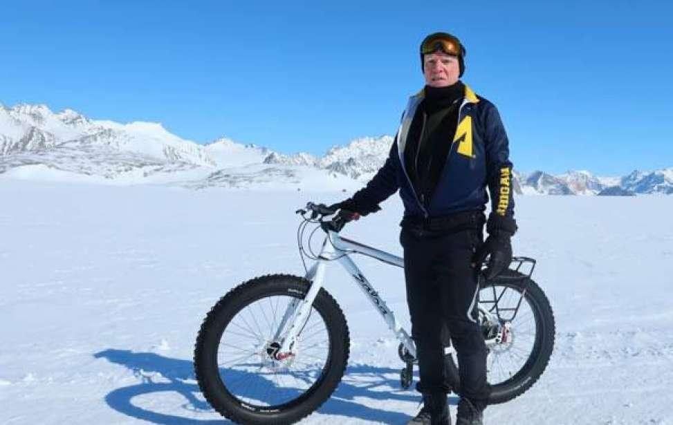 Bikers Rio Pardo | SUA HISTÓRIA | Ele se aposentou e pedalar na Antártida