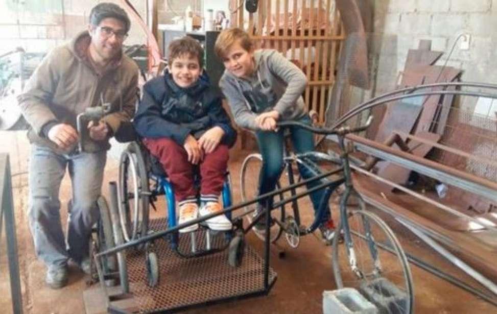 Bikers Rio pardo | SUA HISTÓRIA | Menino argentino inventa bicicleta para andar com o primo paraplégico