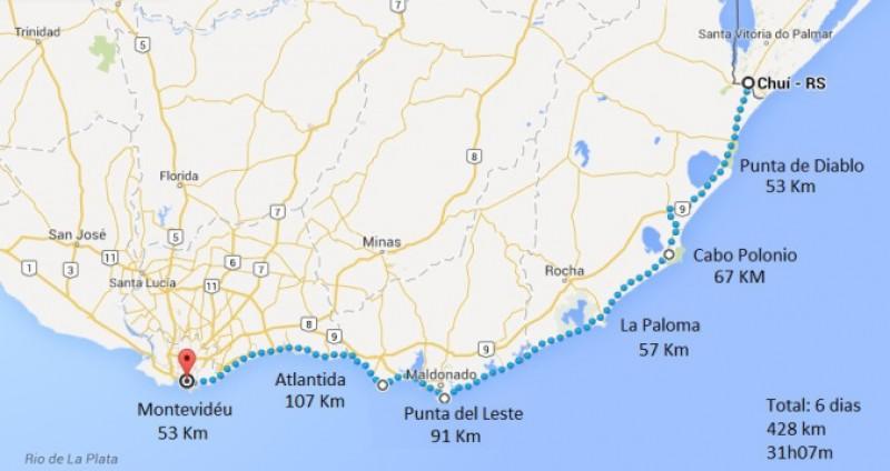 Bikers Rio pardo | Roteiro | Imagens | Uruguai de bike: uma cicloviagem do Chuí a Montevidéu